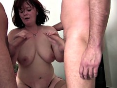 Mature sluts take tons of young cocks in hungry holes