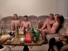 College orgy with loads of booze