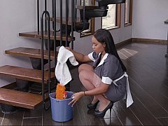 Interracial sex with a maid