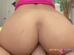 PervCity Blonde Slut Uses Spit for Anal Lube
