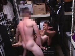 Muscle son threesome with cumshot