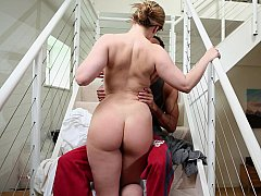 Big-breasted housewife getting down and dirty her husband
