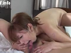 Two Japanese Milfs Lesbian Action