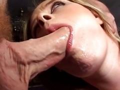 Aroused fella banging a tight soaked vag