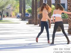 5 Hot Teens Naked In Public