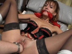 Tied And Bound Pierced Pussy MILF