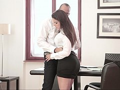 Chica, Morena, Vestidas, Sexo duro, Madres para coger, Oficina, Secretaria, Mojado