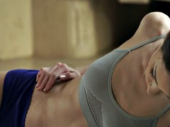Amazing girlfriend fucked after exercising