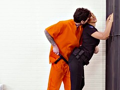 cop isis love got her big tits worshipped by the prisoner