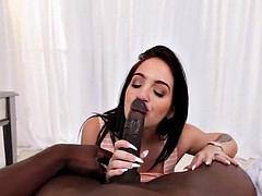 Big titted brunette Aria Rose satisfies her BBC craving