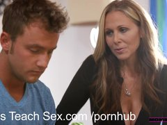 MomsTeachSex Young couple fucks hot older mom