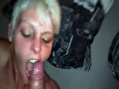 Sloppy Facefuck For A Skinny Old Slag