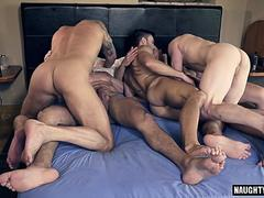 hot gay double penetration with cumshot film