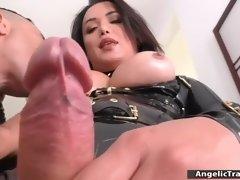 huge tits tranny bianka nascimento fucks man in his ass