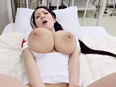 Asiatique, Gros seins, Japonaise, Infirmière, Softcore, Solo, Uniforme