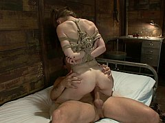 Cute Sensi Pearl gets fucked in suspended position