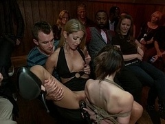 Youthful Sensi Pearl gets tied up and additionally fucked in public