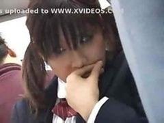 Bus, Befummelt, Japanische massage, Schulmädchen