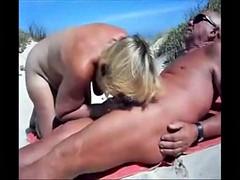 Beach blowjobs
