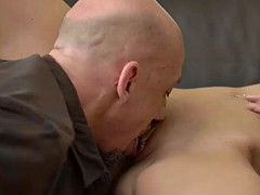 daddy4k. daddy and young beauty have amazing sex right in living room