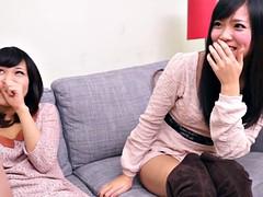 Amateur, Asiatique, Homme nu et filles habillées, Japonaise, Surprise