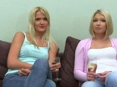 Fake agent erotica with two blonde girls