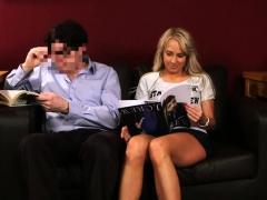 CFNM babe humiliates guy in public