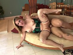 hot blonde moans while being fucked