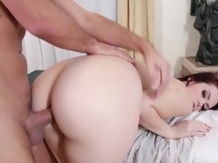 A redhead is getting a dick in the hotel room from the help