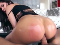 A big ass Latina gets her ass slapped until it becomes red