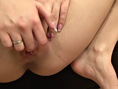 sluty mira cuckold takes a huge black dick up her ass and is creampied