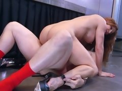 A stepmom is getting her large tits fucked by her stepson