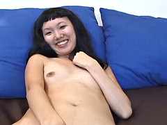 Perfect Asian Jerks Off Cock With Sexy Feet