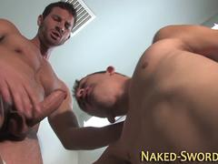 Buff hunk fucks and cums