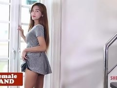 Grote mammen, Ladyboy, Shemale, Alleen