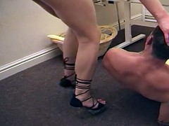 Smothered by pussy under panties in the face