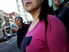 BootyCruise: Chinatown Bus Stop Cam 6 - MILF Cam