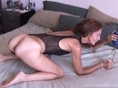Mature rookie loves it anal