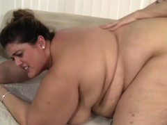 SSBBW babe with bigtits bentover and fucked