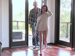 18 year old Kiera Winters giving oral sex