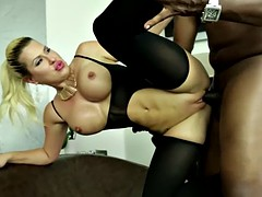 phat ass savana styles gets pounded in each hole by a bulky black man