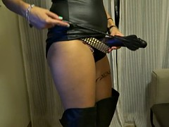 jugando con strapon fetish femdom