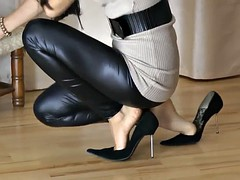 Ultimate Leather Heels Stilettos Shoes Cuir Leder 2