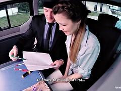 Fucked In Traffic - Czech school girl takes dick in traffic