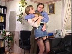 Russian stockings eager mom