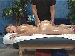Massaging Luci's tight honey pot