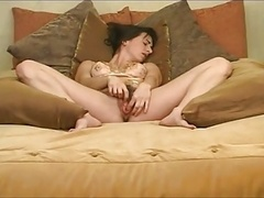 Epic Pulsing Hirsute Brunette Mom i`d like to fuck Solo play