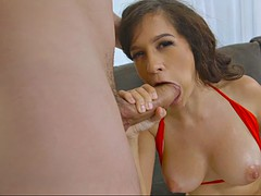caroline ray worships that huge shaft with her sexy mouth