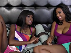 busty ebony babe likes when her friend treats her pussy right