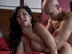 latina fucks long cock and takes cum on tits